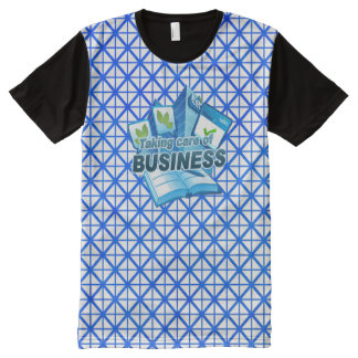 Taking care of Business white All Printed T-Shirt All-Over Print T-Shirt