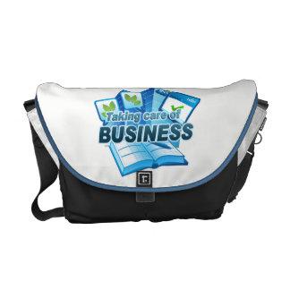 Taking care of Business white/dark Messenger Bag
