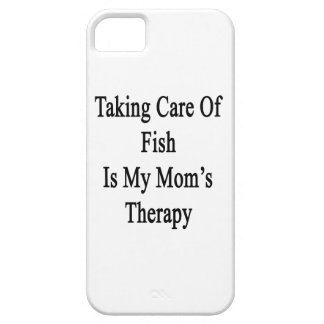 Taking Care Of Fish Is My Mom's Therapy iPhone 5 Cover