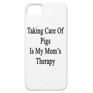 Taking Care Of Pigs Is My Mom's Therapy iPhone 5/5S Cover