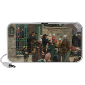 Taking in Foundlings (oil on canvas) iPod Speaker