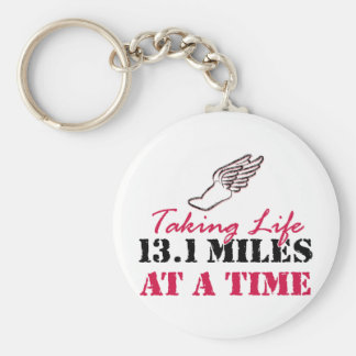 Taking Life 13.1 miles at a time Basic Round Button Key Ring