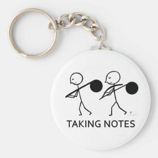 Taking Notes Key Ring
