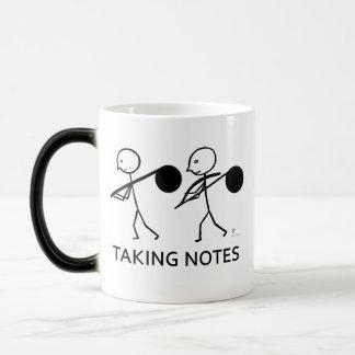 Taking Notes Morphing Mug