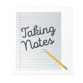 Taking Notes Note Pad