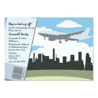Taking Off Farewell Party Invitation