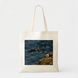 Taking off Puffin Tote Bag