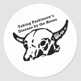 Taking Parkinson s Disease by the Horns Round Stickers
