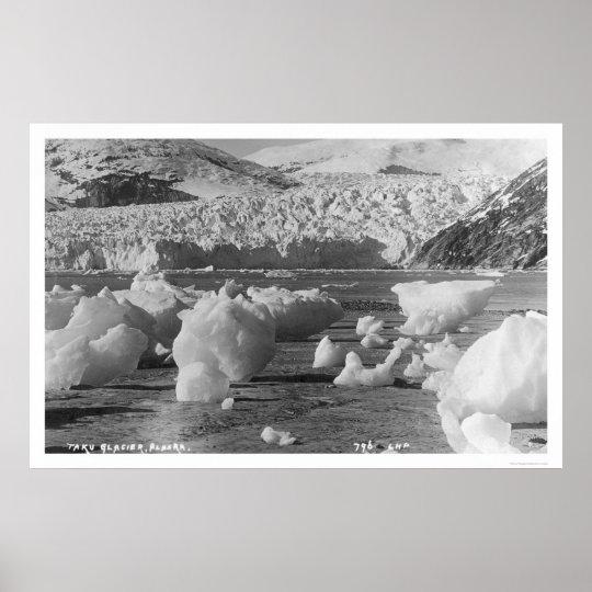 Taku Glacier Alaska 1914 Poster