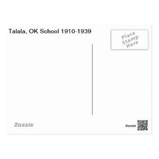 Talala, OK School 1910-1939 Postcard