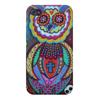 Talavera Day of the Dead Owl Case For iPhone 4