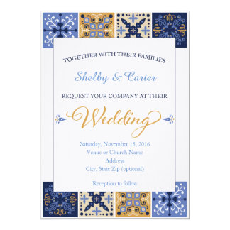 Talavera Mexican Tile Wedding Invitation