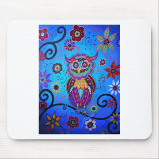 Talavera Owl Mexican Painting Mouse Pad