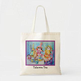 Talavera Tea with Friends Canvas Bags