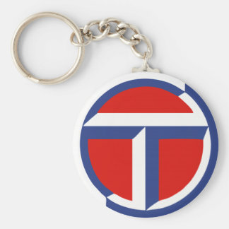Talbot Car Classic Vintage Hiking Duck Basic Round Button Key Ring