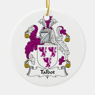Talbot Family Crest Christmas Ornament