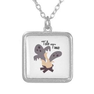 Tale Time Square Pendant Necklace