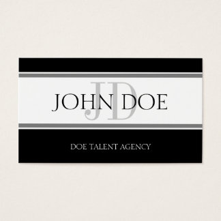 Talent Agency Stripe W/W Business Card