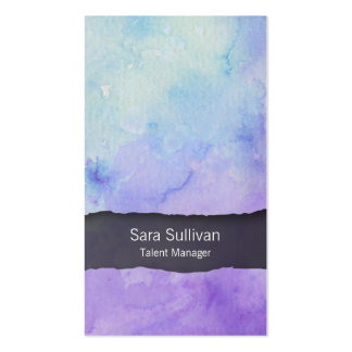 Talent Manager Entertainment Purple Watercolor Pack Of Standard Business Cards