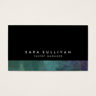 Talent Manager Turquoise Abstract Grunge Gradient