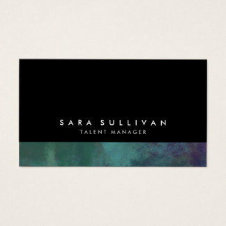 Talent Manager Turquoise Abstract Grunge Gradient Business Card