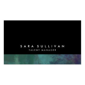 Talent Manager Turquoise Abstract Grunge Gradient Pack Of Standard Business Cards