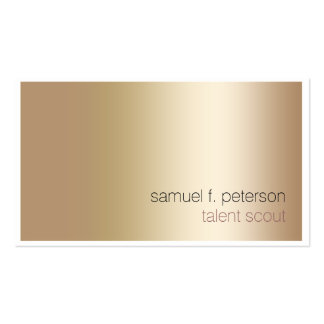 Talent Scout Elegant Bold Gold Minimalist Double-Sided Standard Business Cards (Pack Of 100)