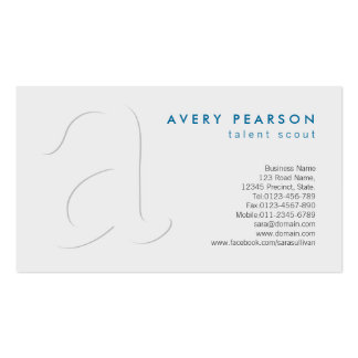 Talent Scout Entertainment Elegant Shadow Monogram Pack Of Standard Business Cards