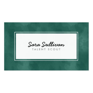 Talent Scout Teal Grunge Entertainment Pack Of Standard Business Cards