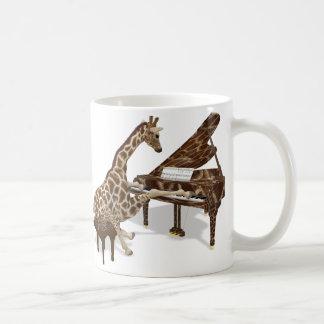 Talented Giraffe Plays Grand Piano Coffee Mug