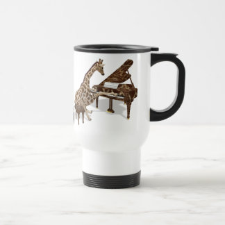 Talented Giraffe Plays Grand Piano Stainless Steel Travel Mug
