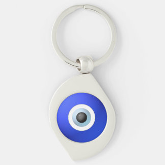 Talisman to Protect Against Evil Eye Silver-Colored Swirl Key Ring