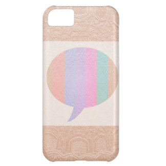 TALK Bubble : Buy Blank or add Greeting Text Cover For iPhone 5C