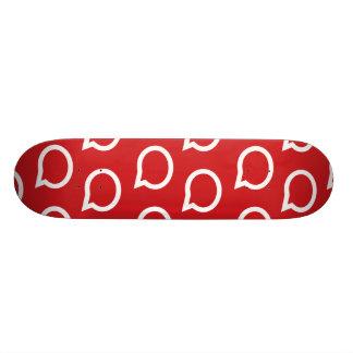 talk bubble red 18.1 cm old school skateboard deck