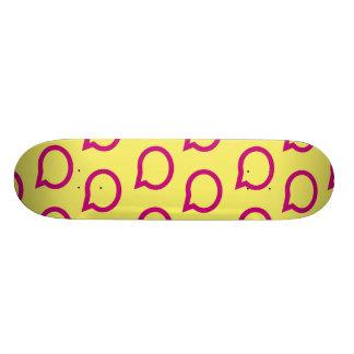 talk bubble yellow magenta skate deck