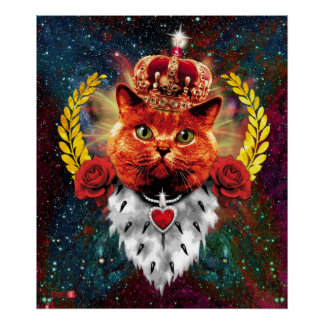 Talk Cat the King/Queen + Talk Roses Poster