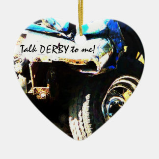 Talk DERBY to Me! Crashed & Smashed Derby Car Christmas Ornament