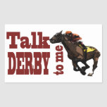 Talk Derby to Me Gifts & Novelties Rectangular Stickers