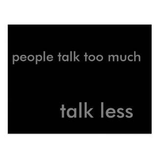 Talk Less Postcard