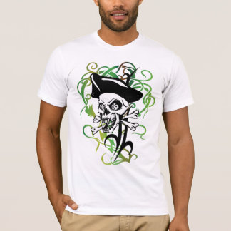 Talk Like A Pirate Day Creepy Scary Pirate Skull T-Shirt
