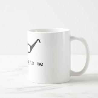 talk nerdy to me basic white mug