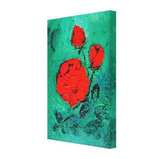talk roses canvas print
