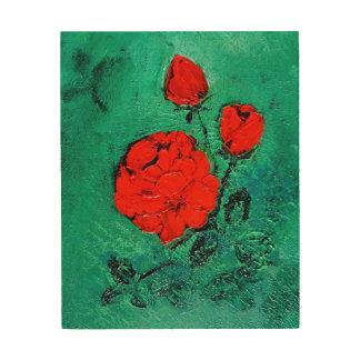 talk roses wood wall art