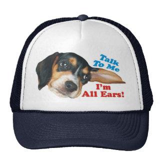 Talk to Me, I'm All Ears Beagle Cap