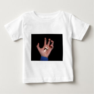 Talk to the hand baby T-Shirt