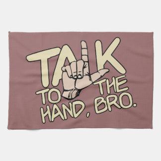 Talk To The Hand custom kitchen towels