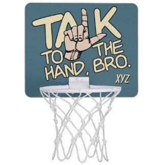 Talk To The Hand custom monogram mini hoop