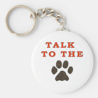 TALK TO THE PAW BASIC ROUND BUTTON KEY RING