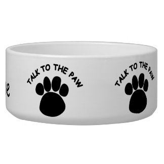 Talk to the Paw Dog Pet Bowl