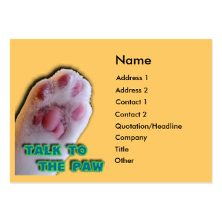 Talk to the Paw Large Business Cards (Pack Of 100)